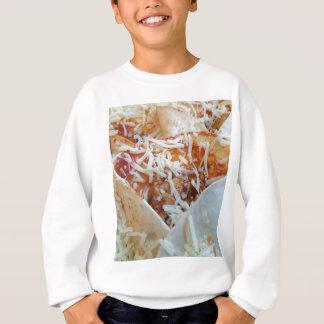 Burrito-Käse-lustiger Nahrungsmittelhintergrund Sweatshirt
