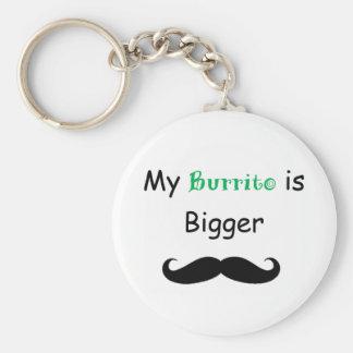 Burrito Standard Runder Schlüsselanhänger