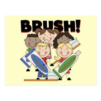Bürsten Sie Ihre Zahn-T - Shirts und Geschenke Postkarte