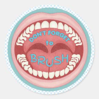 Bürsten Sie Ihren Zahn-Zahnarzt-zahnmedizinischen Runder Aufkleber
