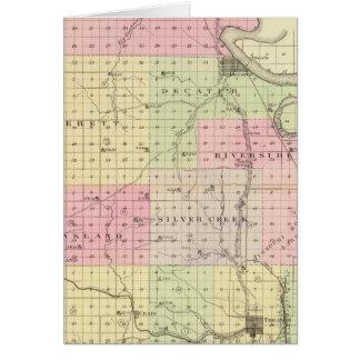 Burt County, Nebraska Karte
