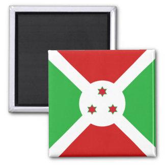 Burundi-Flaggen-Magnet Quadratischer Magnet