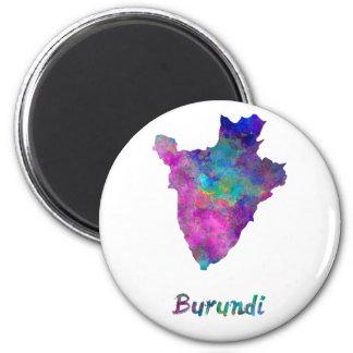 Burundi im Watercolor Runder Magnet 5,1 Cm