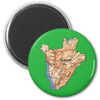 Burundi-Karten-Magnet Runder Magnet 5,7 Cm