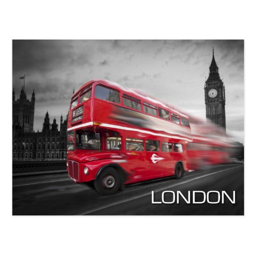 Bus Big Bens London Postkarte