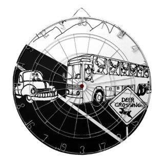 Bus-Cartoon 3251 Dartscheibe