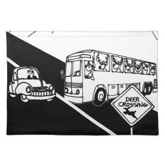 Bus-Cartoon 3251 Stofftischset