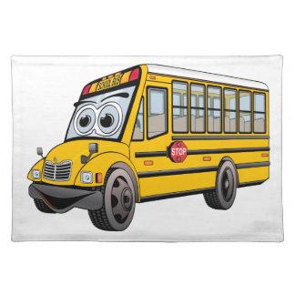 Bus-Cartoon der Schule2017 Stofftischset