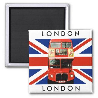 Bus des Kühlschrankmagnet-W. London und britische Quadratischer Magnet
