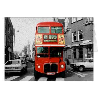 Bus Londons Routemaster Grußkarte