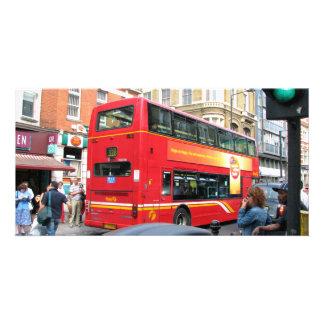 Bus-Rückseite Photokartenvorlagen