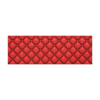 Büscheliges rotes Leder Galerie Gefaltete Leinwand