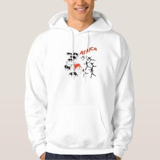 Buschmannhöhlenmalereigrafik-T-Shirts und Hoodie