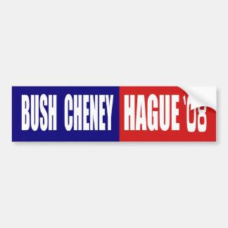 BUSH CHENEY/DEN HAAG 08 AUTOAUFKLEBER