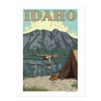 Bush-Flugzeug u. Fischen - Idaho Postkarte