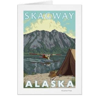 Bush-Flugzeug u. Fischen - Skagway, Alaska Karte