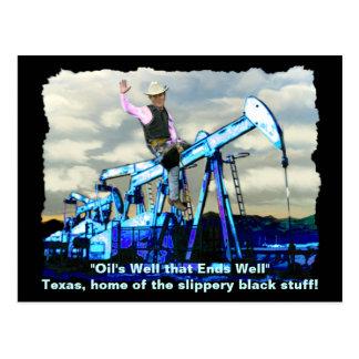 """""""BUSH-ÖL"""" Goerge W Bush Ölquellen-Postkarten Postkarte"""