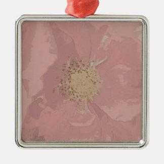 Bush-Rosen DullPastel Silbernes Ornament