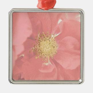 Bush-Rosen mono Silbernes Ornament