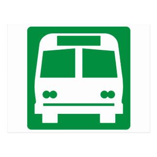 Bushaltestelle-Landstraßen-Zeichen Postkarte