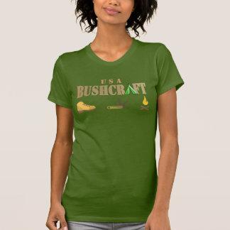 bushcraft hölzernes Blicklogo-Namet-shirt 4 T-Shirt