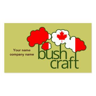 Bushcraft Kanada Flagge Visitenkarten
