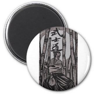 Bushido Mondlicht Runder Magnet 5,1 Cm