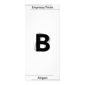 Business,- B -, Airgan Individuelle Werbe Karte