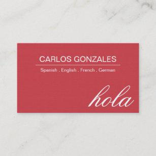 Spanischer übersetzer Visitenkarten Zazzle De