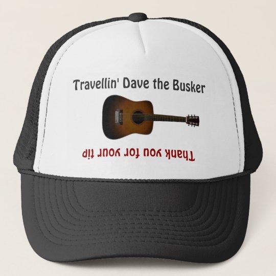 Busker-Musiker-Gitarren-Spitze-Glas-Hut Truckerkappe