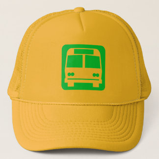 Bussymbol - cyan-blau truckerkappe