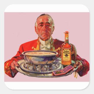 Butler 1937 mit Behälter und Whisky der goldenen Quadratischer Aufkleber
