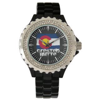 Butte-Schmutz-Flaggen-Uhr mit Haube Armbanduhr