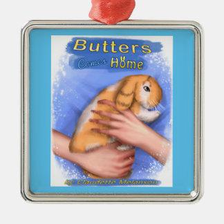 Butter kommt Zuhause-Abdeckungs-erstklassige Silbernes Ornament