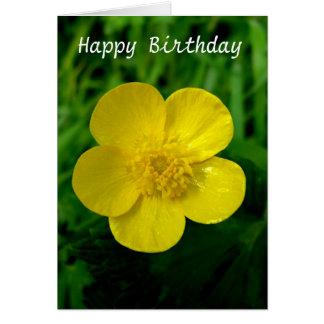 Butterblume - Geburtstag Grußkarte