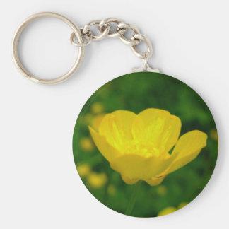 Butterblume-Schlüsselketten-gelbe Schlüsselanhänger