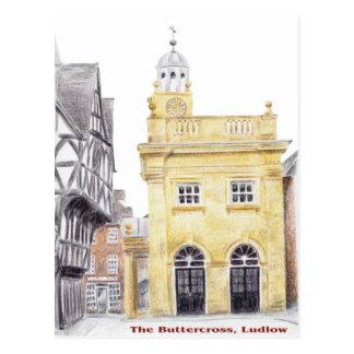 Buttercross, Ludlow Postkarte