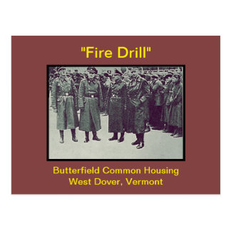 Butterfield Wohnungs-Feuer-Bohrgerät-Spaß: Postkarte