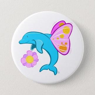 Butterfin Abzeichen Runder Button 7,6 Cm