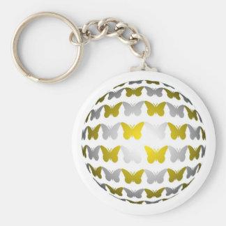 Butterfly globe schlüsselband
