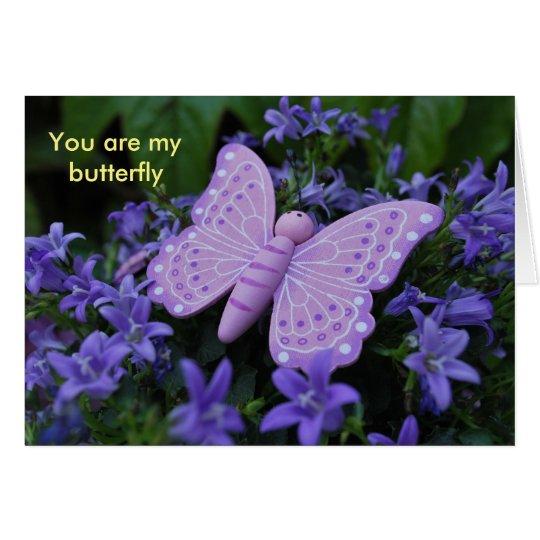 Butterfly Karte