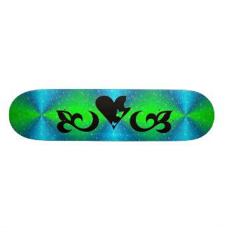 Butterfy Lilie und Herz 18,1 Cm Old School Skateboard Deck