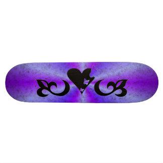 Butterfy Lilie und Herz Skateboard