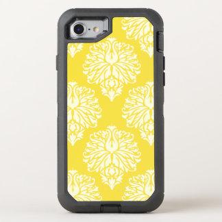 Buttergelb-südlicher Hütten-Damast OtterBox Defender iPhone 8/7 Hülle