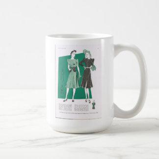 Butterick Mode-Dame Classic White Mug Kaffeetasse
