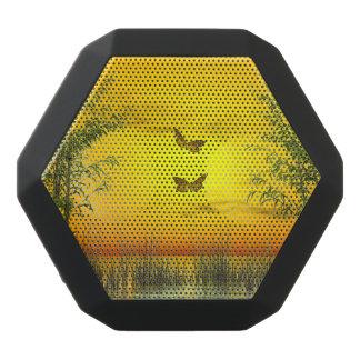 Butterlflies durch Sonnenuntergang - 3D übertragen Schwarze Bluetooth Lautsprecher