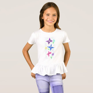 butterlies und Blumen T-Shirt