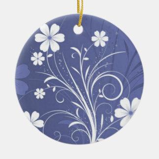 Button-Blumen 3 Keramik Ornament