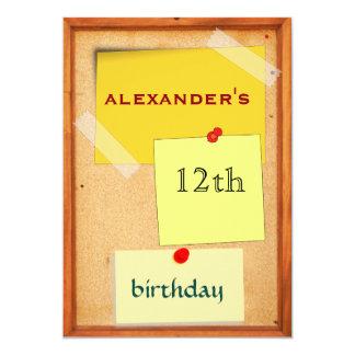 Button-Brett-Jungen-12. Geburtstag 12,7 X 17,8 Cm Einladungskarte