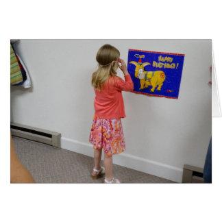 Button der Schwanz auf dem Esel, Geburtstag Grußkarte